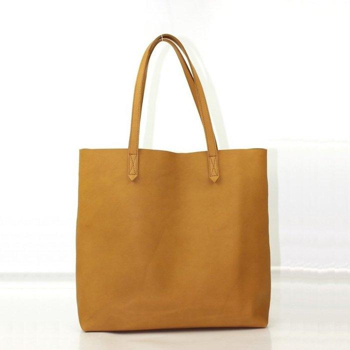 手提包 真皮 托特包-簡約大容量牛皮肩背女包包4色73vi1[獨家進口][米蘭精品]