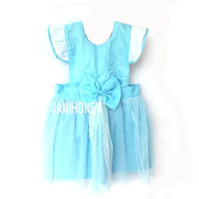 淺藍色灰姑娘公主 兒童圍裙【JI2389】《Jami Honey》