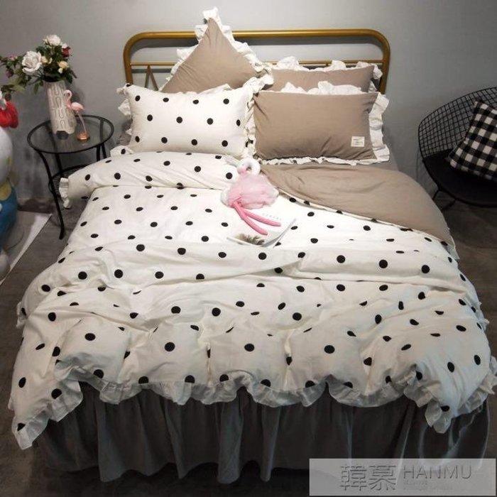 [新品]床包組 網紅全棉四件套公主風純棉1.8m床單被套1.5米雙人床上用品  〖影時代〗