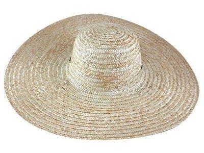 ☆二鹿帽飾☆ 帽簷大款(45cm)/ 遮陽效果極佳/ 大海灘大草帽/選舉遊街專用帽~特價99元