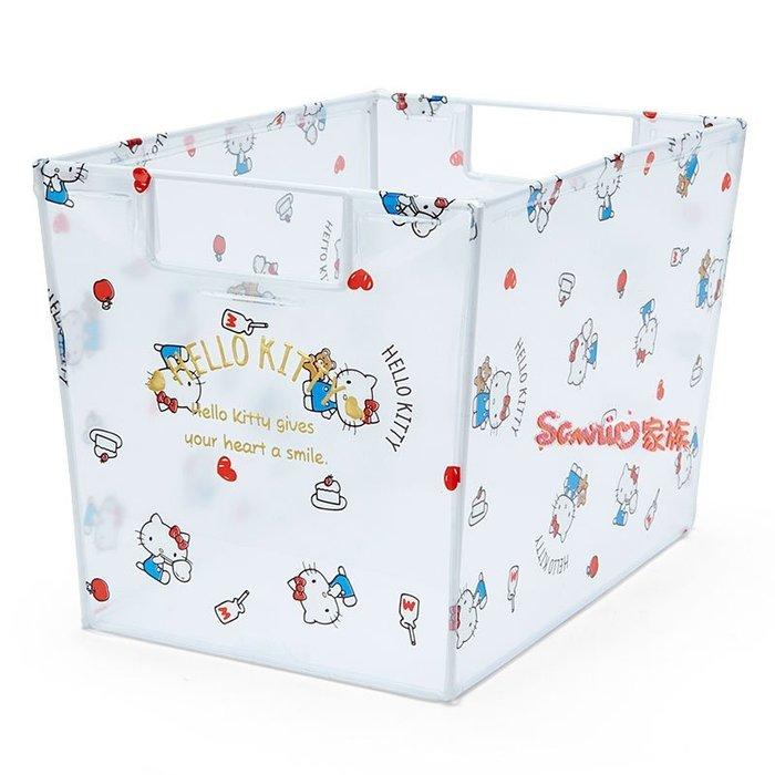 《東京家族》日本 三麗鷗 Hello Kitty 透明 收納箱 儲物箱 置物箱
