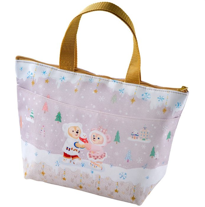 Miss莎卡娜代購【東京海洋迪士尼】﹝預購﹞2019繽紛聖誕節 達菲熊 雪莉梅 畫家貓 芭蕾兔 雙面圖案 餐袋 便當袋