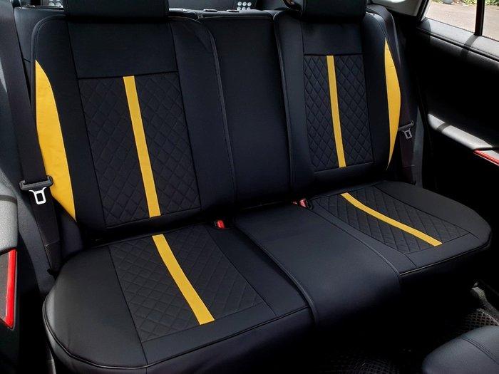 TOYOTA豐田【RAV4超跑款椅套】(RAV4全車系適用) 全新款 時尚前衛 皮革椅套 內裝皮套 座椅保護套 透氣坐墊