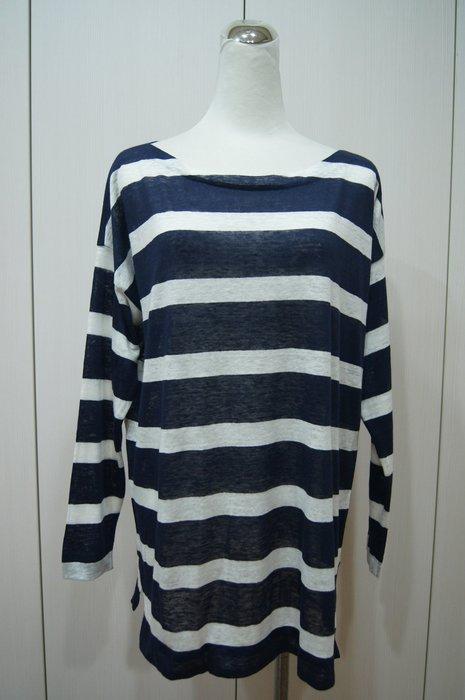 Loro Piana 藍色白橫條衫      原價  36100      特價  11500