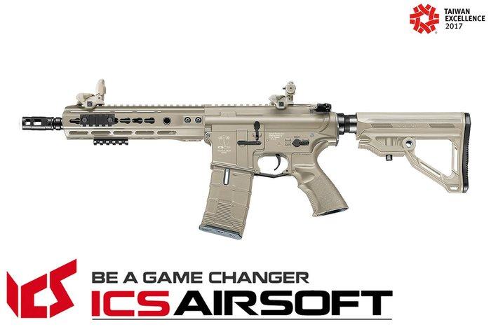 【翔準軍品AOG】ICS CXP-UK1 戰術標準版 (後出線)(沙) EBB Keymod M-Lok 全金屬 生存遊