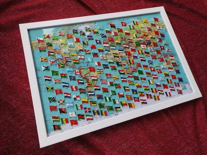 【國旗徽章達人】世界地圖200款國旗徽章組合/胸章/胸針/別針/勳章/獎章