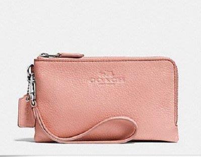 COACH ** 64130** 粉紅色真皮手拿包(有現貨)