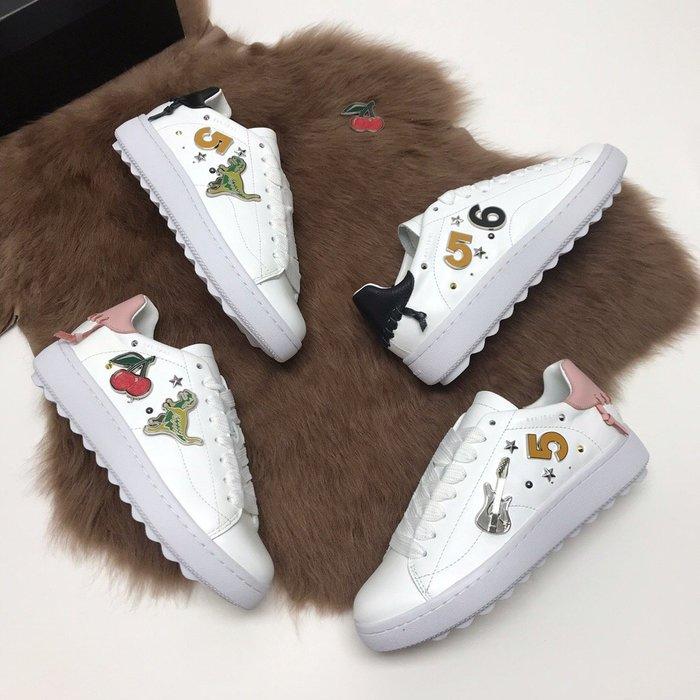 NaNa代購 COACH 休閒鞋 經典勛章搭配 訂製款 手工編織 氣質時尚 穿著舒服 附購證