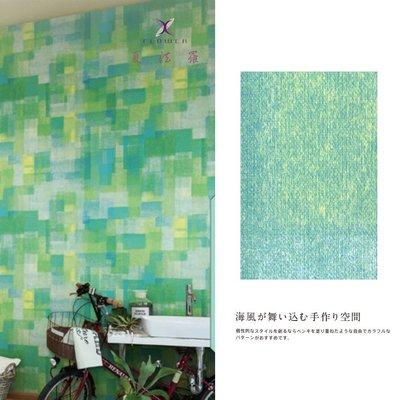 【夏法羅 窗藝】日本進口 度假風 仿油漆刷色 清新自然風 壁紙 BB_030015