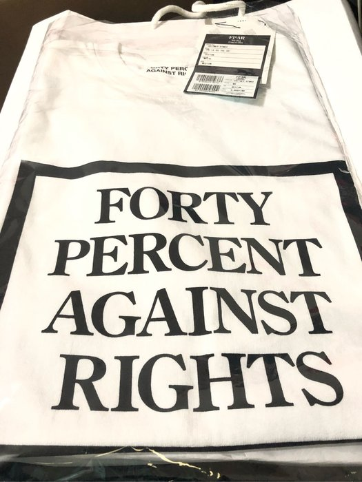 現貨 白M 限量 FPAR FORTY PERCENT AGAINST RIGHTS 日本 短T