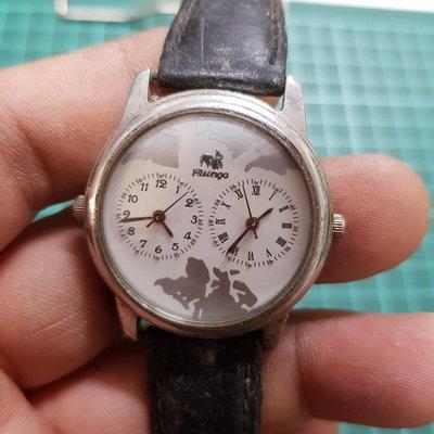 鋼頭 雙時區 自行研究 ☆拆零件都划算☆ 另有 飛行錶 水鬼錶 軍錶 機械錶 三眼錶  潛水錶 SEKIO  CASIO CITIZEN CK TELUX G4