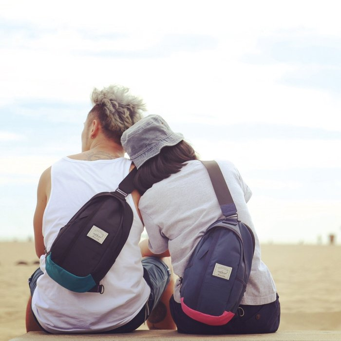 【Matchwood直營】Matchwood Hunter 單肩後背包 側背斜背包 胸前隨身包 黑湖水藍款 開學限時優惠