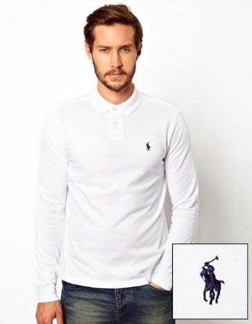 Ralph Lauren 小馬 長袖 POLO 衫 現貨 小馬 青年款 白色