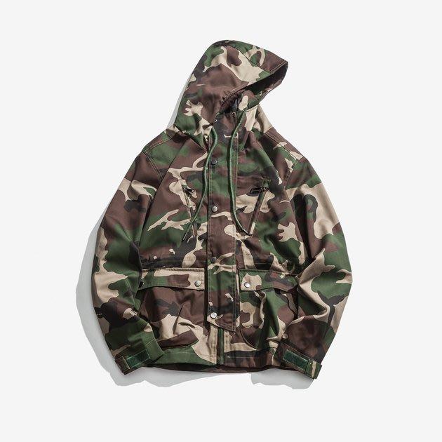 FINDSENSE 2019 秋季上新 迷彩夾克長袖上衣 G7 男裝 外套 夾克