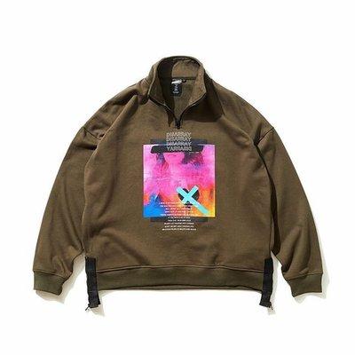 ☆LimeLight☆ Disarray Standing Collar Sweatshirt 拉鍊大學TEE 衝鋒衣