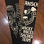 (硬骨頭)日本 VANSON X WACKY RACES 臂套 紋身 刺青 防曬袖套 吸汗速乾 重機(黑色)