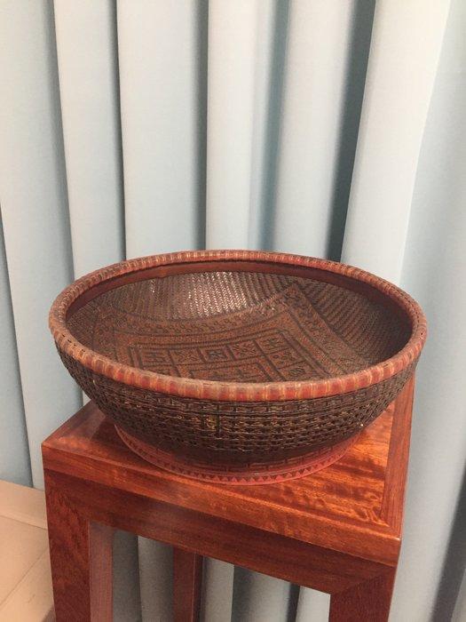 [清代]細竹編針線籃