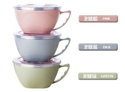 韓式304雙層不鏽鋼泡麵碗 1200ml 附蓋密封保鮮 隔熱防燙不銹鋼附耳碗 調理料理水果 兒童寶寶大飯碗湯杯白鐵便當盒