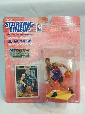 《金塊》NBA太陽隊 Jason Kidd 復古公仔 J-KIDD 經典 收藏 Starting Lineup 附球員卡