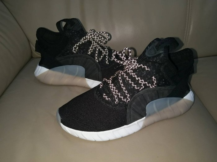 全新商品 Adidas Tubular Rise 黑白 編織 3M反光鞋帶