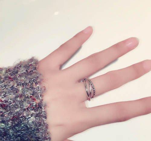 FEI日韓代購~潮人三圈 多層戒指日韓國潮人創意復古女簡約學生個性關節食指環