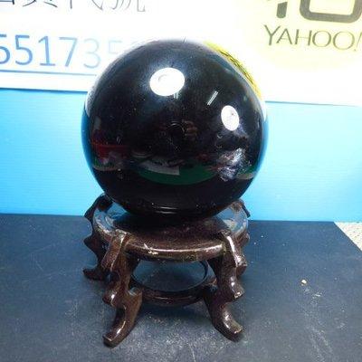 【競標網】天然漂亮墨西哥黑曜岩球2230公克115mm(K61)(贈座)(網路特價品、原價2100元)限量一件