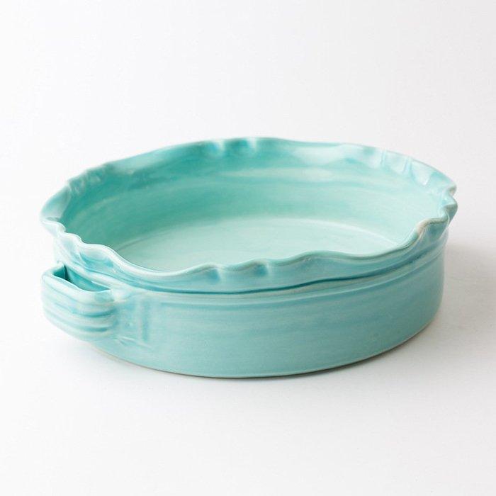 〖洋碼頭〗瑞典原產GERBERA烤盤北歐風陶器點心盤水果早餐盤碟子菜盤 L3005