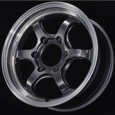 日本 Advan 鋁圈 Racing RG-D2 金屬黑 槍黑 香檳金 銀邊 16吋 Hiace 專用