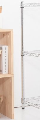 【M.S.魔法空間】60cm 鐵管(單支價格)【波浪架/鐵力士架/層架/鐵架/收納架/鍍鉻架/倉儲架】