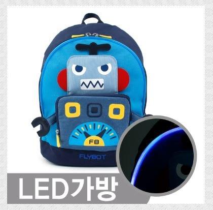 『※妳好,可愛※』韓國童鞋 原廠 winghouse 正韓 機器人後背包 LED 反光後背包  書包