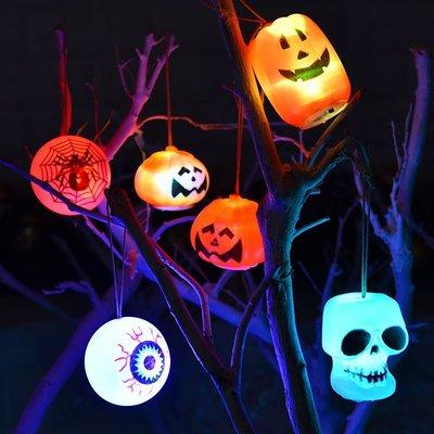 萬圣節LED發光南瓜熱銷燈造型裝飾布置擺新件酒吧KKTV桌面禮物夜燈道具TY036