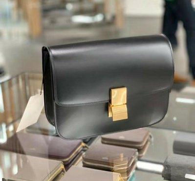 最低特價❗Celine 專櫃真品Box 中款 肩背包 黑色 三十而已同款