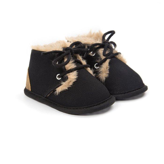 森林寶貝屋~黑色休閒保暖鞋~學步鞋~幼兒鞋~寶寶鞋~嬰兒鞋~學走鞋~童鞋~綁帶設計~保暖舒適~彌月贈禮~特價135元
