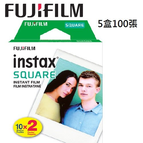 名揚數位 100張 FUJI 拍立得底片 方型底片 Instax Square Film 空白 SQ10 SQ6 SP3