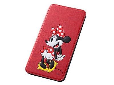 尼德斯Nydus~* 日本 Disney 迪士尼 米妮 皮套 翻頁式 手機殼 iphone6+ plus 5.5吋