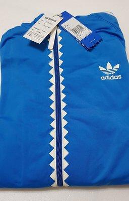 全新 愛迪達 adidas Originals OT-TECH H FLOCK P28159 鋸齒連帽外套 藍/白