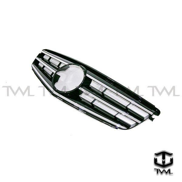 《※台灣之光※》全新精品 現貨 賓士 BENZ W204跑車式Avantgarde大星黑色水箱罩 不附大星 台灣製造