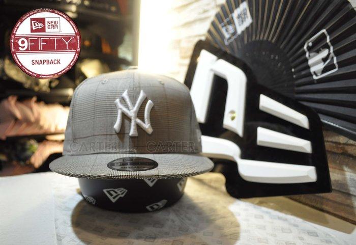 New Era MLB NY Yankees British  Grids 9Fifty 紐約洋基英倫風大地格紋色後扣帽