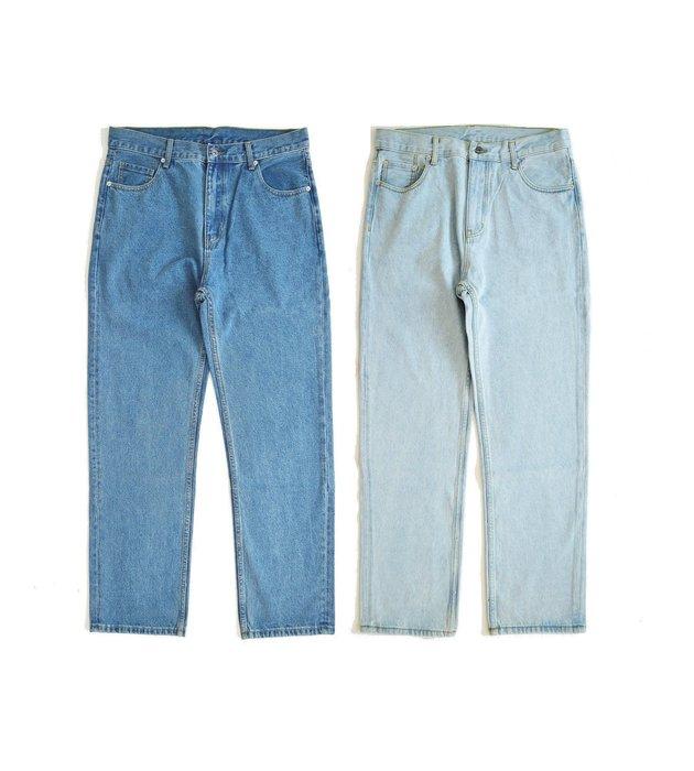 【 Wind 】美式 復古 寬鬆   80s  復古  重磅 12.8oz   牛仔褲 單寧  寬褲  直筒  刷色