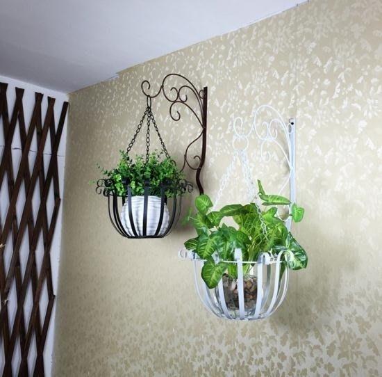 [免運可開發票]花架 歐式鐵藝壁掛花盆架 綠蘿壁掛花架掛墻墻上室內陽台-酷森