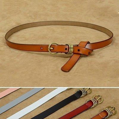 腰鏈皮帶 素色 針釦 簡約 百搭 繫皮帶 腰帶【FJ3H-P】