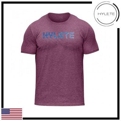 ►瘋狂金剛◄桃紅色  HYLETE pinpoint tri-blend crew tee 柔軟 透氣 短袖T恤