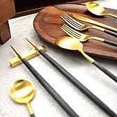 Cutipol極美玫瑰金 |GOA系列 黑玫瑰金筷子+筷架