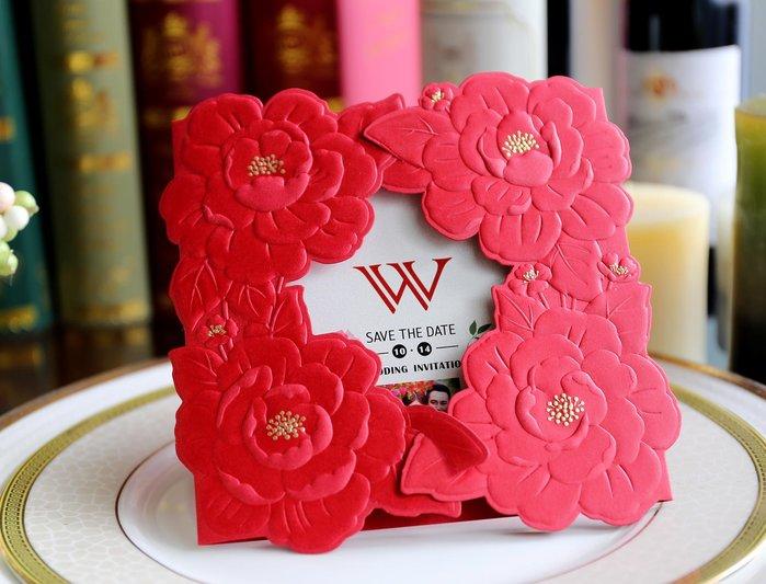 『潘朵菈精緻婚卡』影像設計喜帖♥ 立體浮雕22元喜帖系列 ♥ 喜帖編號:C-87116
