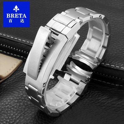 BbeeS 手錶配件錶帶貼膜 適配勞力士綠水鬼鋼帶 黑水鬼不銹鋼表帶男手表帶20 21MM904精鋼