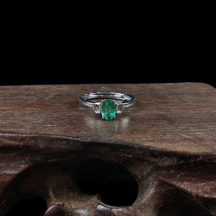 《博古珍藏》925純銀鑲祖母綠寶石戒指.戒子飾品配件(天使款).求婚訂婚情人節禮盒禮物.附包裝盒.底價回饋