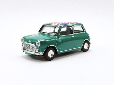 【秉田屋】現貨 Norev Mini Austin Morris Cooper S 1963 綠/英國旗 1/64