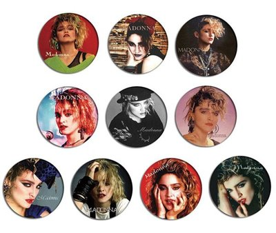 現貨 MADONNA 80's Portrait pinback BADGE SET 2b 襟章 徽章 (一套10個)