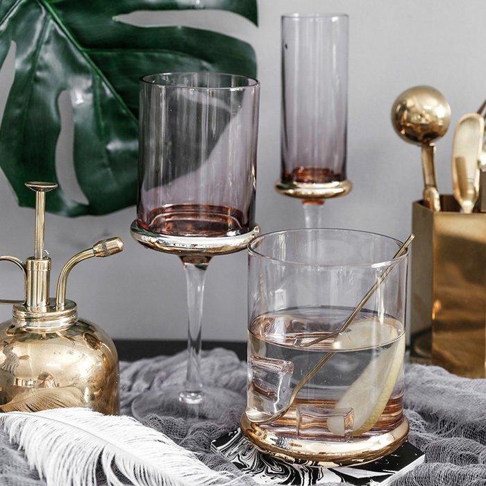 MAJPOINT*歐式鍍金 高腳杯 水杯 紅酒 香檳 葡萄酒杯 奢華 party派對 野餐 果汁 雞尾酒杯 婚禮佈置