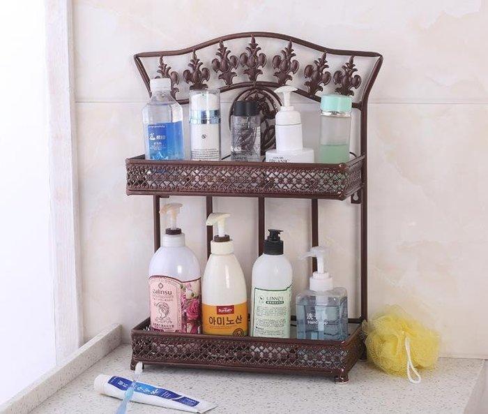 洗漱台置物架洗手洗臉池台面浴室衛生間洗手間桌面化妝品小收納架yi